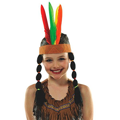 amscan Thanksgiving Pow Wow Fabric & Feather Headband | Party Accessory]()