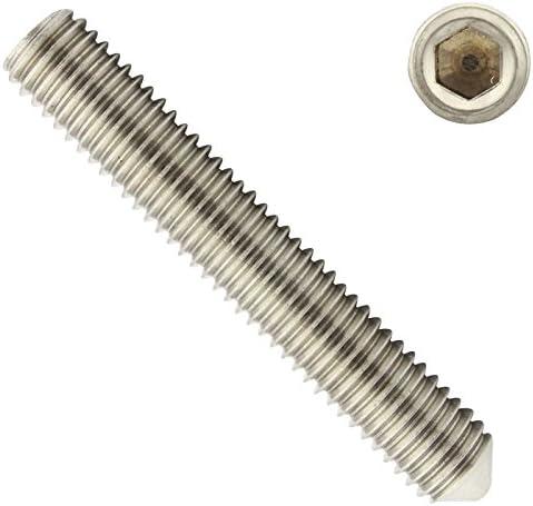 DIN 913 10 St/ück M3x8 - - Madenschrauben ISO 4026 - SC913 Gewindestifte mit Kegelkuppe und Innensechskant Antrieb V2A - aus rostfreiem Edelstahl A2