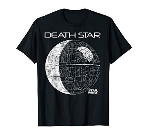 Star Wars Death Star Plans Tonal Line Art Graphic T-Shirt (Star Wars Death Star Pro Galaxy Projector Silver)