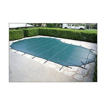 18 x 36 Rectangle Loop-Loc Ultra-Loc II Solid Safety Pool Cover with Mesh Drain Panels