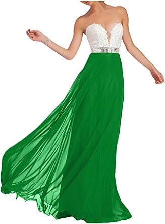 Dingzan Floor Length Chiffon Applique Formal Dresses Wedding Guest
