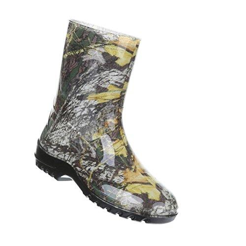 Damen Schuhe Stiefel Regenstiefel Mit Muster Gummi Gelb