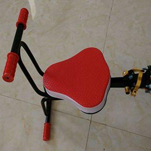 Lingxuinfo Child Bike Seat Kids' Bicycle Carrier Kids Bike Seat Bike Child Seat with Armrestand Pedal (Red)