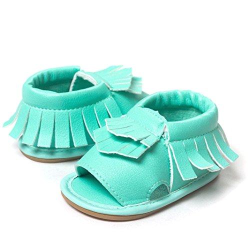 Zapatos de bebé,Xinantime Borla las Sandalias Primeros Caminante (11, Verde) Verde