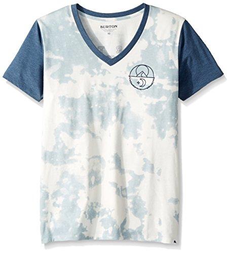Burton Women's Tarrytown V-Neck Short Sleeve T-Shirt, Bleached, Medium