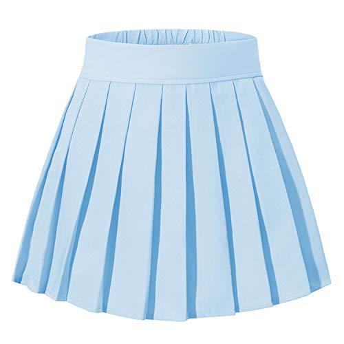 Women's Back to School Uniform Short Cos Skirts Costumes (L,Sky ()