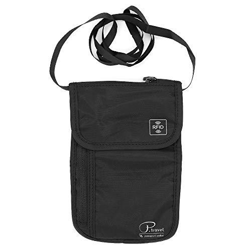 Buwico Hanging Travel Toiletry Bag, Waterproof Folding Portable Cosmetic Bag, Wash Bag for Men and Women (Black)