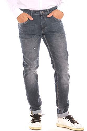 Con Cotone Jeans Uomo A In Strappi Sigaretta Denim YqRYv4