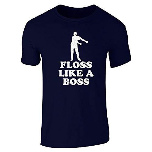(Floss Like A Boss Dance Silhouette Funny Navy Blue XL Short Sleeve T-Shirt)