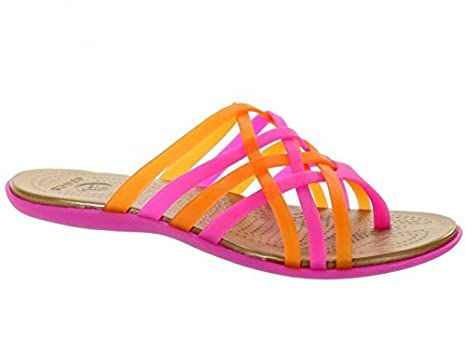 f54cc2b6c Crocs Huarache Flip Flop Fuchsia-Bronze Womens Footwear Sandals   Amazon.co.uk  Clothing
