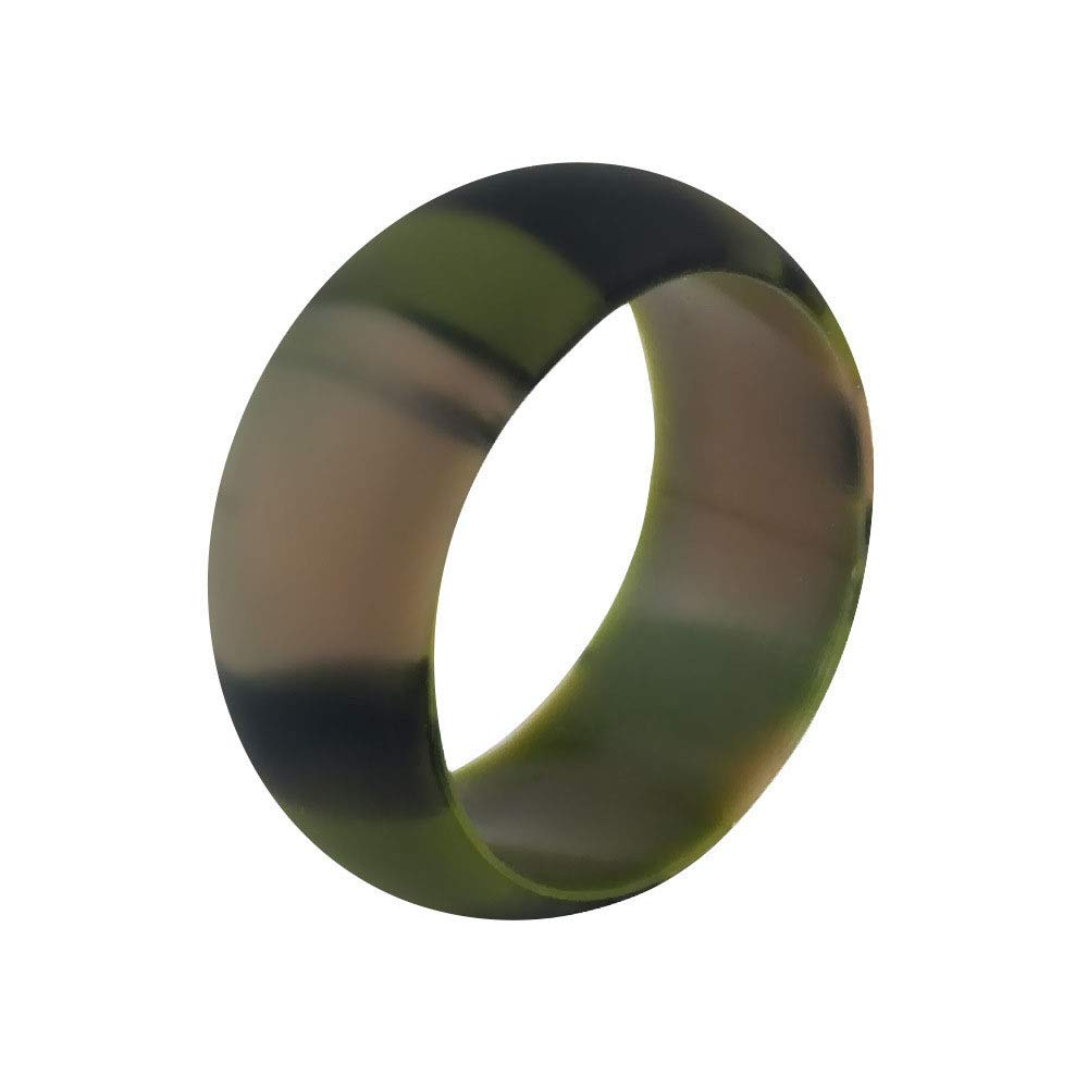 Silicone Wedding Ring for Women/Men, Affordable Silicone Rubber Wedding Bands Camouflage