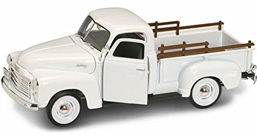 1950 GMC Pick-up Truck, White - Yatming 92648 - 1/18 Scale Diecast Model Toy Car