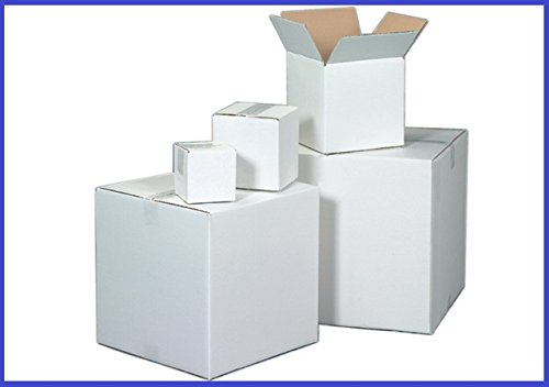 BoxYeah 25 Pack - White Corrugated Cardboard Shipping Storage Boxes - 34 Sizes To Choose - Example (11 1/4 x 8 3/4 x 8)