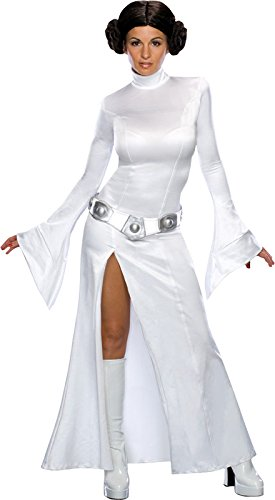 Princess Leia Costumes Adult (Secret Wishes Women's Sexy Princess Leia Costume, White, M (6-10))