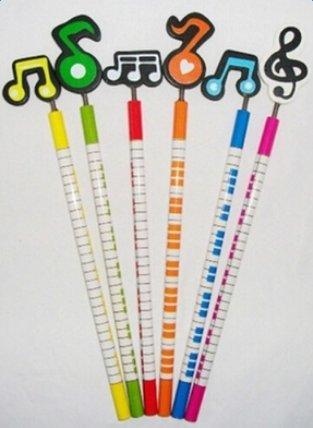 Mackur matite musica a tema con cute Cartoon strumenti musicali Patterns artista matita set 6pcs