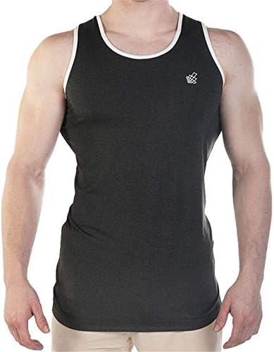 タンクトップ メンズ 夏のコットンノースリーブベスト男性ストレッチコルセットジムトレーニングベスト 夏 スポーツ フィットネス (色 : C2, Size : L)