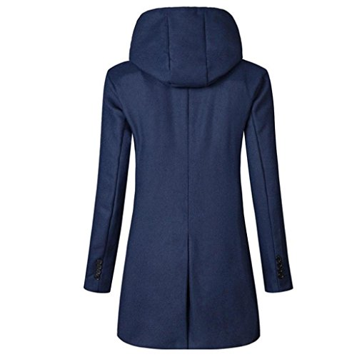 con chaqueta gabardina la Las capucha Armada la mujeres Escudo Internet la del con capa de larga capucha invierno abrigo de cubren Outwear TxCqOnOEHw