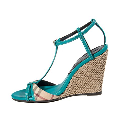 free shipping shop for Burberry Blue Wedge Sandals clearance low shipping fee jx7DU8c6C