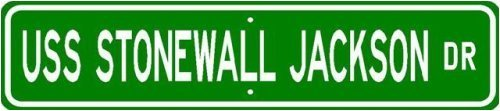 (USS STONEWALL JACKSON SSBN 634 Street Sign - Navy Sticker Decal Wall Window Door Art Vinyl Street Signs - 22