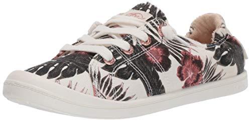 Roxy Women's Bayshore Slip On Sneaker Shoe, White Ringer, 8.5 M US