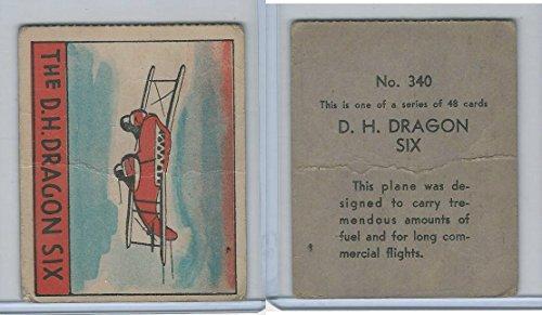 (R132 Strip Card, Series of 48 - Aviation, 1938, 340 DH Dragon Six Airplane)