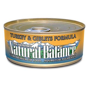 Natural Balance Turkey & Giblets Formula Canned Cat Food 3oz