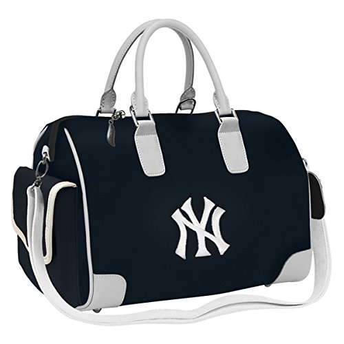 - Charm14 MLB New York Yankees Deluxe Handbag with Embroidered Logo