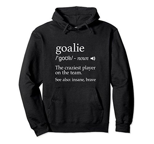tion Hoodie for Hockey, Soccer, Lacrosse Goalie Large Black ()