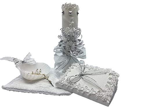 Casa Ixta Baptism Candle Ribbons - Christening Set