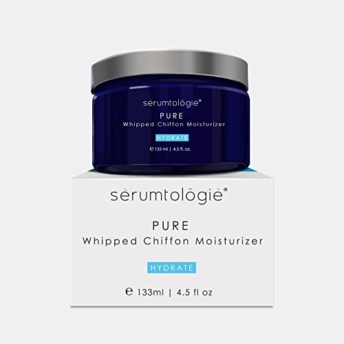 serumtologie PURE Whipped Chiffon Anti Aging Moisturizer for Men & Women | Hypoallergenic | Non Greasy & Fragrance Free | Best for Normal, Oily, Combination & Sensitive Skin | 4.5oz