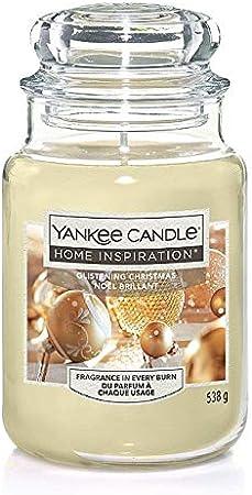R/échauffez Les Vacances avec Un c/âlin accueillant de Vanille cr/émeuse et dambre Doux YANKEE CANDLE Bougie parfum/ée de No/ël Grand Pot