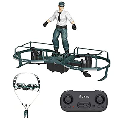 Mini Quadcopter Drone for Kids and Adults,EACHINE E019 RC Stunt Paraglider Flight Mode Altitude Hold Mode Mini Quadcopter Drone RTF - Green