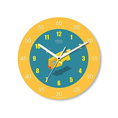 HappyVirus 11.22'' Educational Wall Clock, Children's Time Telling Teacher, Silent Non Ticking Home Decoration (Goldfish) #2026 by HappyVirus