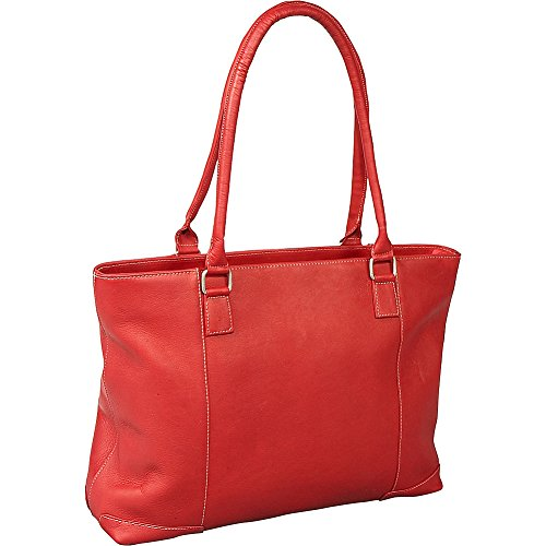 Le Donne Leather Women's Laptop Tote (Red) by Le Donne Leather
