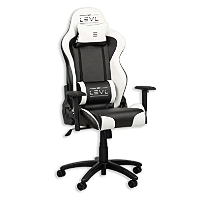 LEVL Gaming Alpha Series M Best Computer Gaming Chair Black/White from LEVL Gaming