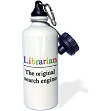 3dRose wb_202958_1 Librarian The Original Search Engine - Sports Water Bottle, 21oz