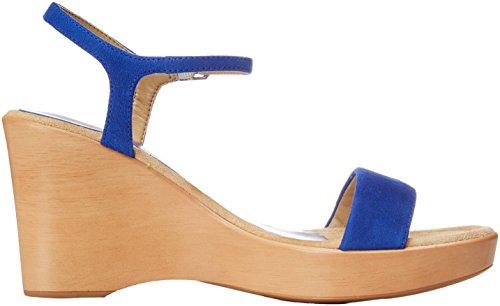 Mujer Unisa 18 Rita Punta Sapphire KS para Azul Sandalias con Abierta WR84wqnFRr
