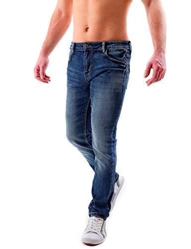 Instinct Fit Slim regular Modelli Classici Jeans Uomo Regular Vari Ripped Blu wfxg7w4rq