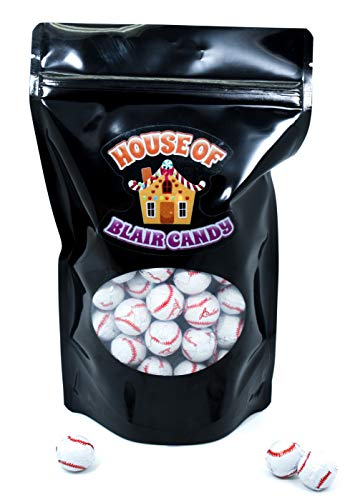 Chocolate Covered Baseballs - Bulk Chocolate Baseball Candy - 2 Pounds - Approximately 160 Pieces