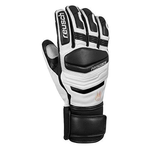 Reusch Master Pro Glove - Men's White/Black, L (Best Ski Gloves 2019)