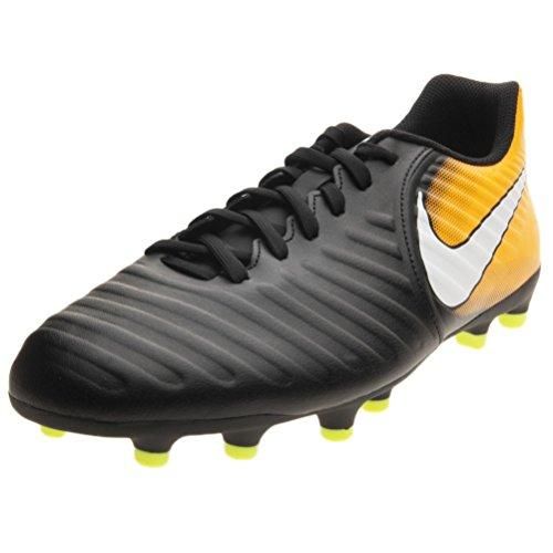 Nike Tiempo Rio IV FG Black/White/Laser Orange/Volt Men's Soccer Shoes