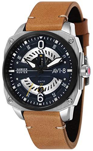 (AVI-8 Mens Hawker Hunter Watch - Tan/Blue)