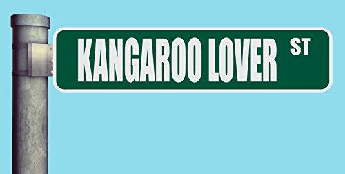 KANGAROO LOVER ST STREET SIGN HEAVY DUTY ALUMINUM ROAD SIGN 17