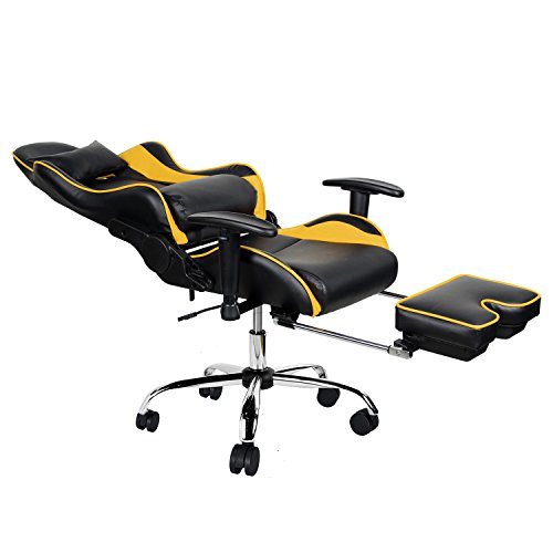 Merax Ergonomic Racing Gaming Chair With Adjustable Armrests High
