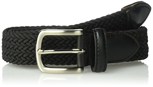 8 Accessories Kids Belts (Dockers Big Boys' Braided Elastic-Web Stretch Belt, Black, Medium)