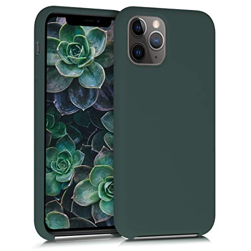 kwmobile TPU Silicone Case Compatible with Apple iPhone 11 Pro Max - Soft Flexible Rubber Protective Cover - Moss Green