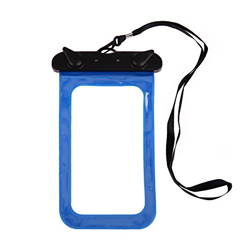 "Alloet Sealing Waterproof Protect Bag With Strap Dry Pouch Case for Smaller than 5.8"" Smart Phone"