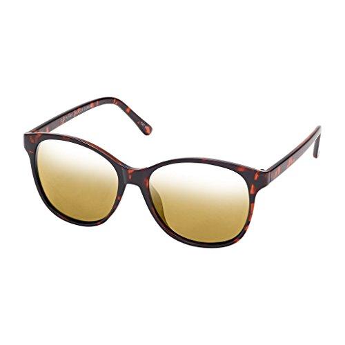 BLUE PLANET SUNGLASSES LUNA BP14191 Amber Tortoise Gold Mirror Polarized - Luna Sunglasses