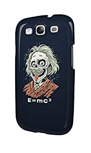 S30517 Albert Einstein skull funny Glossy Case Cover For Galaxy S3 by Maris's Diary
