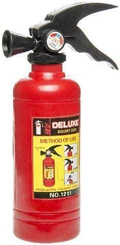 Schnooridoo 1 x Wasserspritzpistole Feuerl/öscher Feuerwehrmann Wasserpistole Scherzartikel Wasserspritzpistole